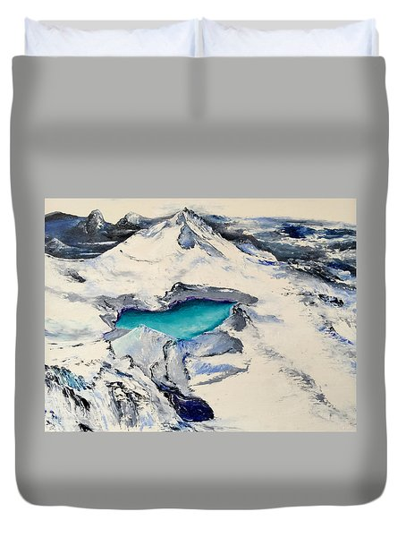 Gemstone Lake Duvet Cover