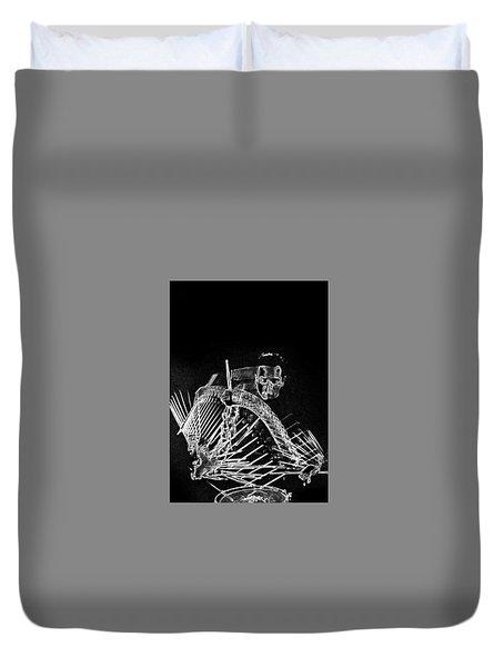 Gene Krupa Duvet Cover by Charles Shoup