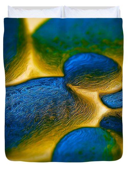 Gene Pool Blue Duvet Cover