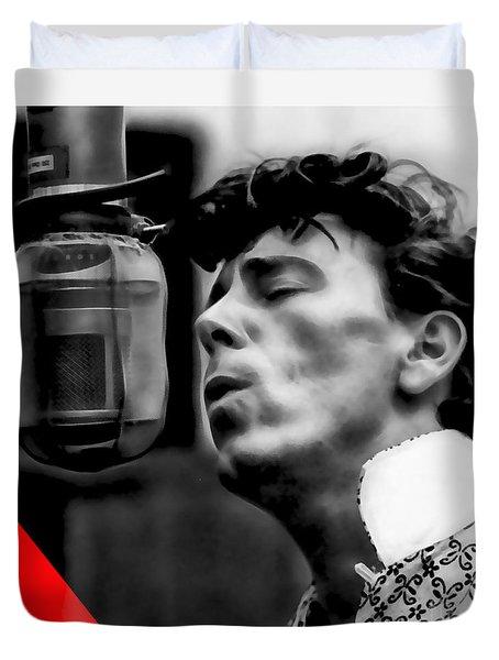 Gene Vincent Collection Duvet Cover by Marvin Blaine