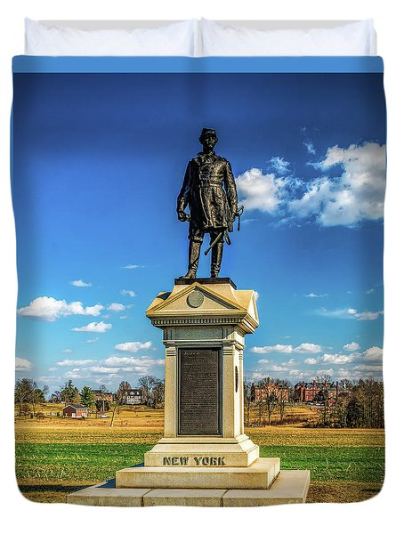 Duvet Cover featuring the photograph General Abner Doubleday - Gettysburg National Park by Nick Zelinsky