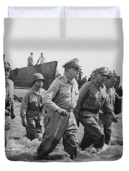 General Douglas Macarthur Returns Duvet Cover