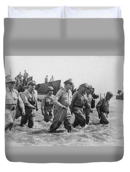General Douglas Macarthur Returns Duvet Cover by War Is Hell Store