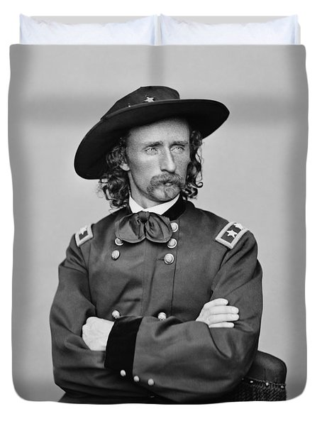 General George Armstrong Custer Duvet Cover by War Is Hell Store