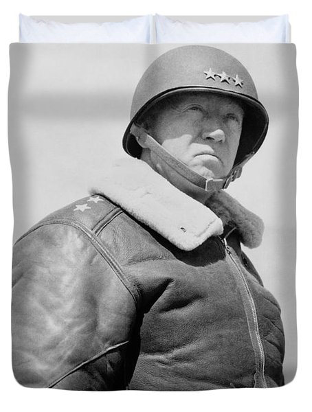 General George S. Patton Duvet Cover