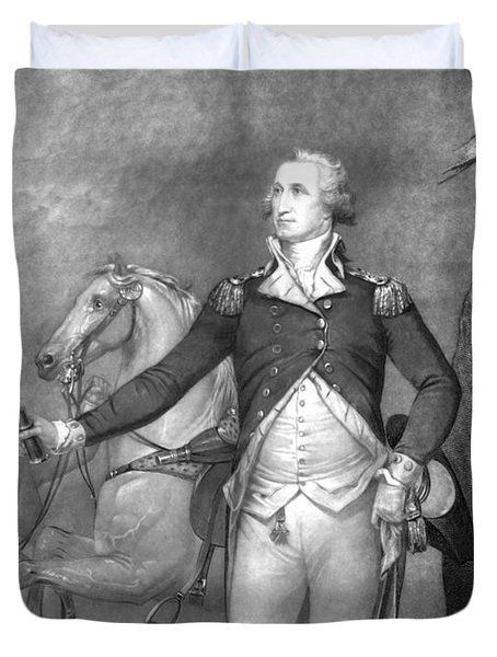 General George Washington At Trenton Duvet Cover by War Is Hell Store
