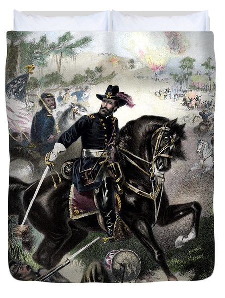 General Grant During Battle Duvet Cover by War Is Hell Store