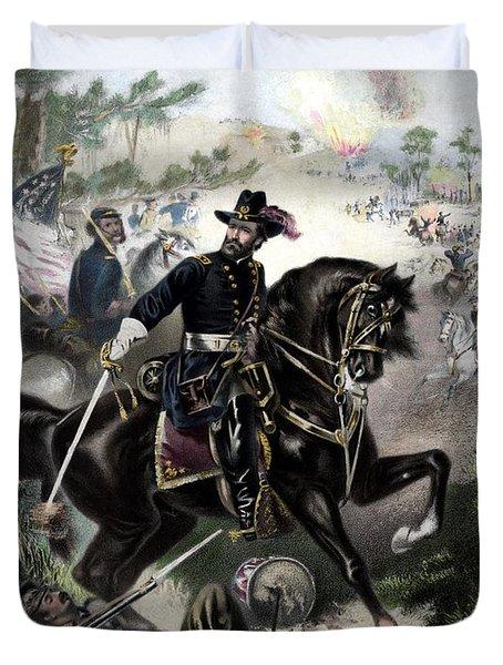 General Grant During Battle Duvet Cover