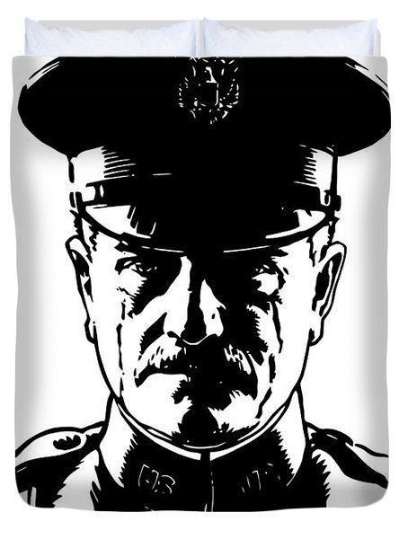 General John Pershing Duvet Cover