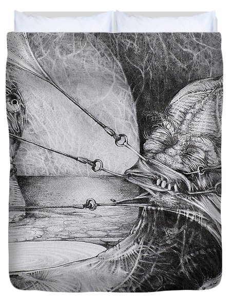 General Peckerwood In Purgatory Duvet Cover by Otto Rapp