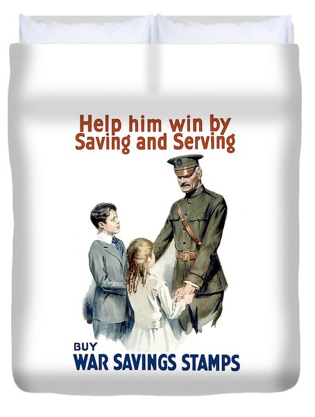 General Pershing - Buy War Saving Stamps Duvet Cover by War Is Hell Store