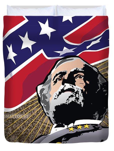 General Robert E. Lee At Appomattox Duvet Cover