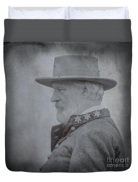 General Robert E Lee Portrait  Duvet Cover