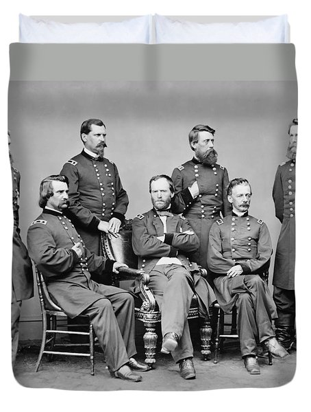 General Sherman And His Staff  Duvet Cover