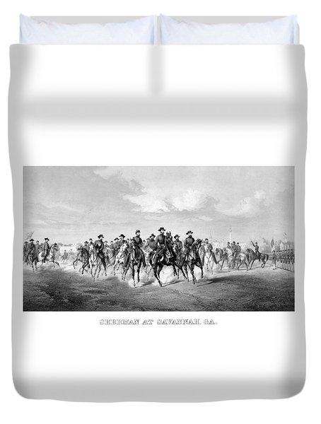 General Sherman At Savannah Duvet Cover by War Is Hell Store
