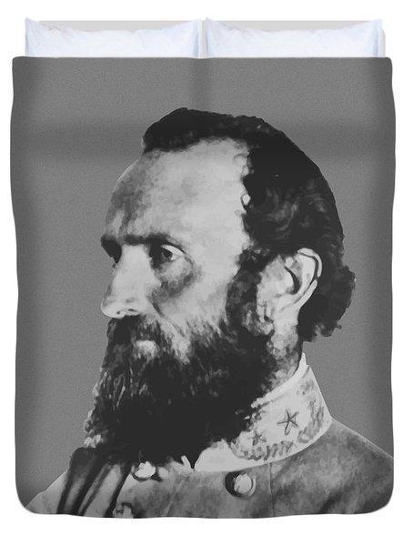 General Stonewall Jackson Profile Duvet Cover
