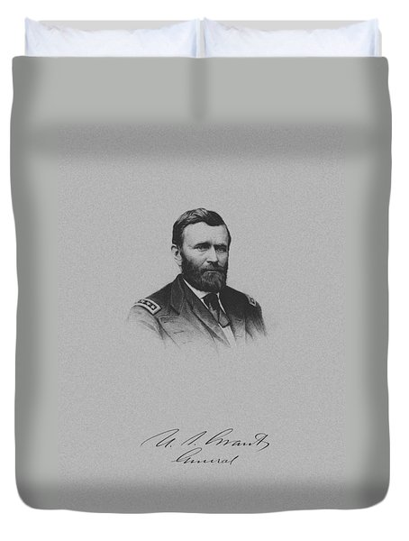 General Ulysses Grant And His Signature Duvet Cover by War Is Hell Store
