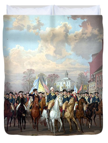 General Washington Enters New York Duvet Cover by War Is Hell Store