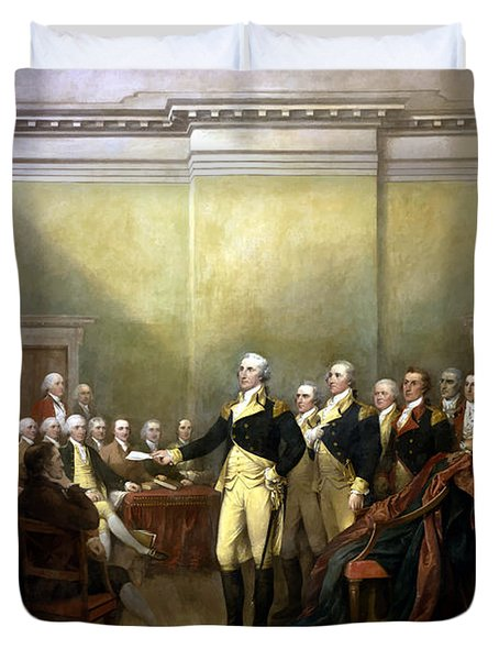 General Washington Resigning His Commission Duvet Cover