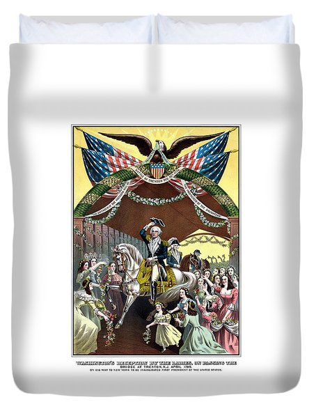 General Washington's Reception At Trenton Duvet Cover by War Is Hell Store