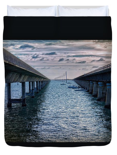 Generations Of Bridges Duvet Cover