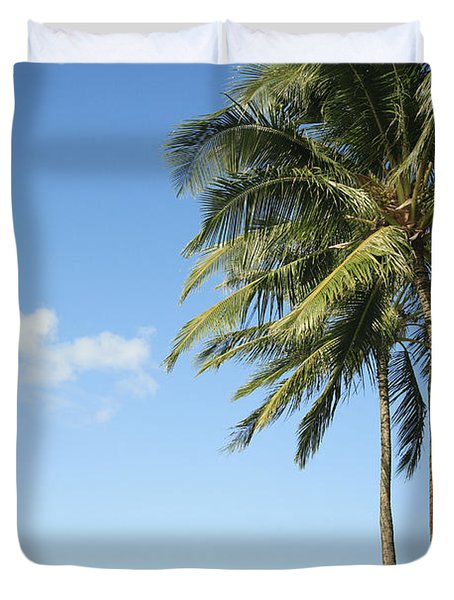Generic Palm Tree Duvet Cover by Brandon Tabiolo - Printscapes