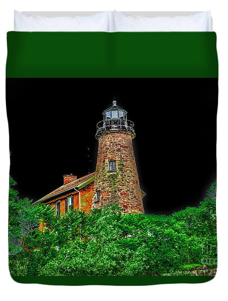 Genesee Lighthouse Duvet Cover