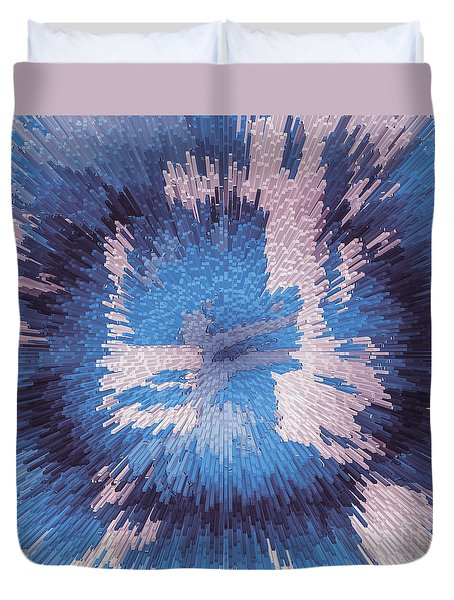 Genetic Engineering Flower Duvet Cover