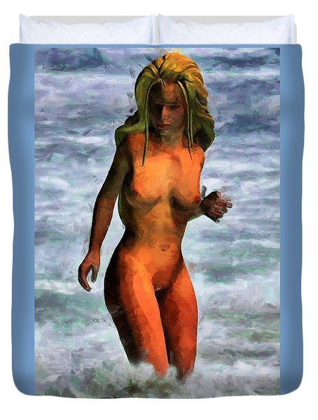 Genie Jumping Waves Duvet Cover