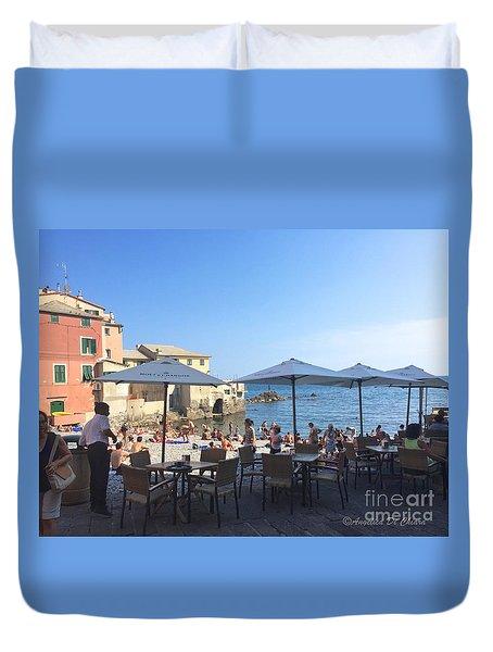 Genova, Boccadasse Duvet Cover