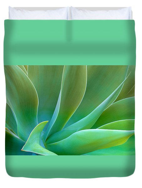 Duvet Cover featuring the photograph Gentle Curves Of Agave Attenuate by Ram Vasudev