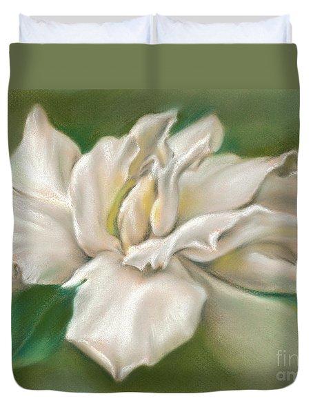 Gentle Gardenia Duvet Cover