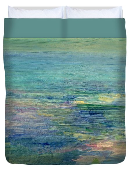 Gentle Light On The Water Duvet Cover by Mary Wolf
