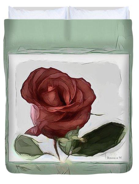 Gentle Rose Duvet Cover