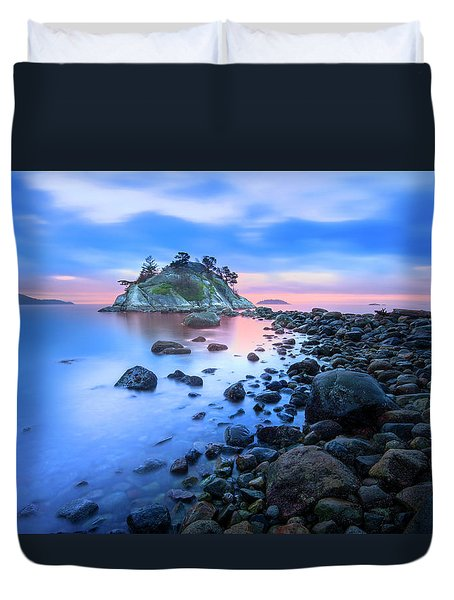 Duvet Cover featuring the photograph Gentle Sunrise by John Poon