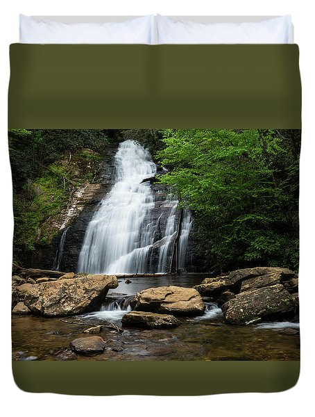 Gentle Waterfall North Georgia Mountains Duvet Cover