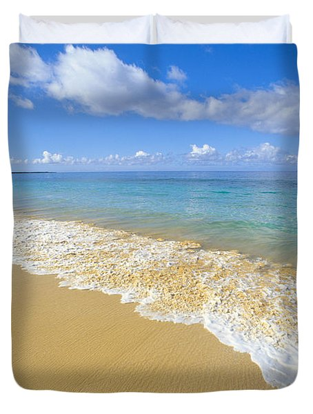 Gentle Waves Rolling Duvet Cover by Carl Shaneff - Printscapes