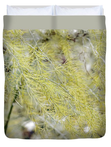 Duvet Cover featuring the photograph Gentle Weeds by Deborah  Crew-Johnson