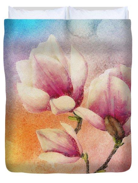 Duvet Cover featuring the digital art Gentleness by Klara Acel