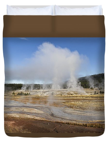 Gently Steaming Duvet Cover by Shirley Mitchell