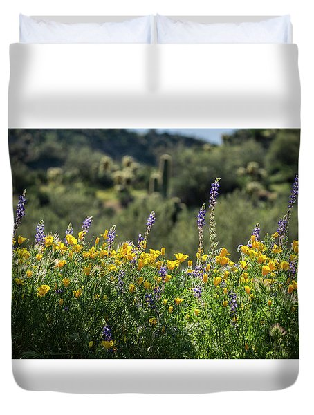 Duvet Cover featuring the photograph Gently Swaying In The Wind  by Saija Lehtonen