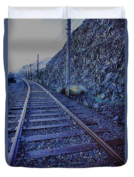 Duvet Cover featuring the photograph Gently Winding Tracks by Jeff Swan