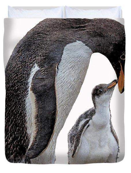 Gentoo Penguins Duvet Cover