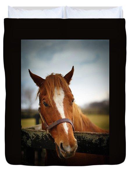 Duvet Cover featuring the photograph Genuine Reward by Shane Holsclaw