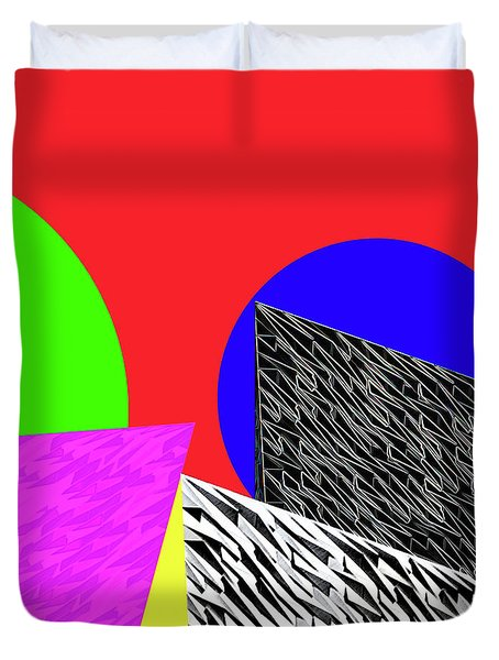 Geo Shapes 2 Duvet Cover by Bruce Iorio