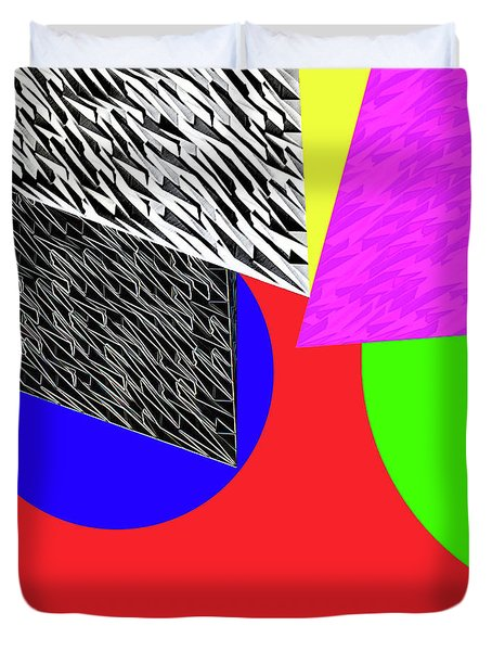 Geo Shapes 2a Duvet Cover by Bruce Iorio