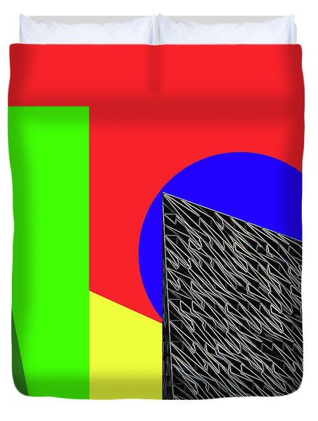 Geo Shapes 3 Duvet Cover by Bruce Iorio