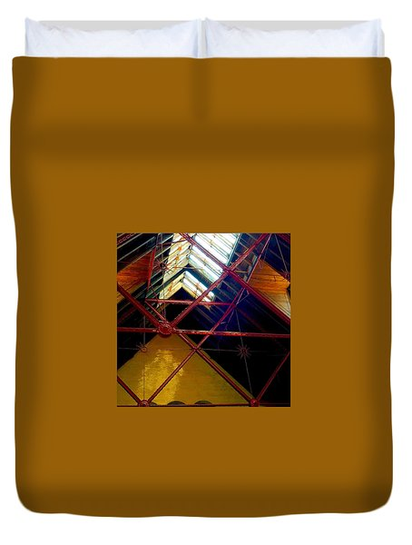 Geometric And Suns  Duvet Cover