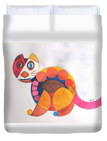 Geometric Cat Duvet Cover