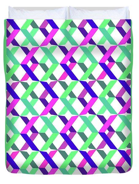 Geometric Crosses Duvet Cover